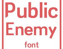 Public Enemy Font