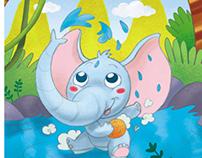 Animals children's illustrations