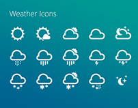 Weather icons for web project