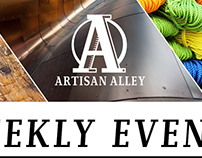 Artisan Alley Weekly Event Handbill