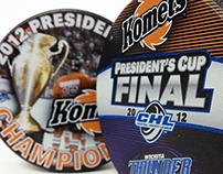2012 ECHL President's Cup Hocky Pucks
