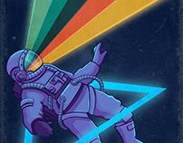 Retro-futurist astronaut