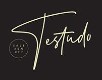 Testudo Signature Font