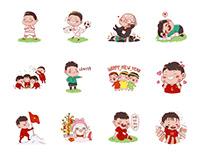 Zalo sticker - U23 Việt Nam