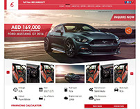 Car website mock up Design