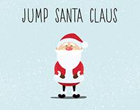 Animated loop gif - Jump Santa Claus