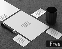 Free Black and White office mock - up