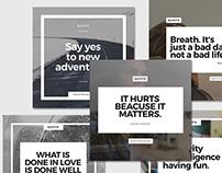5 Templates designed for Instagram