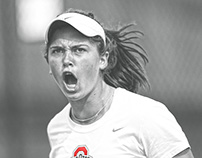 LOVE HURTS — Ohio State Women's Tennis poster