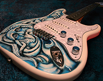 Custom Carved / Painted Guitar