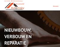 Website voor Bouwbedrijf Adamsky