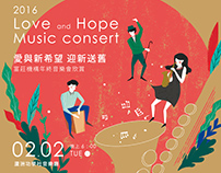 Love and Hope Music Consert Invetation