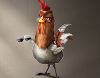 Character design - Thug Chicken