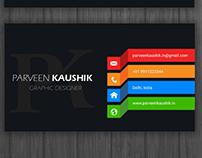 Black Theme Business Card Template