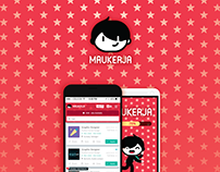 Maukerja Brand Identity and UIX Design