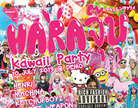 HARAJUBU KAWAii PARTY FLYER (Bangkok, Thailand)
