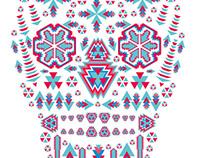 skull ethnic geometric eps8 vector art