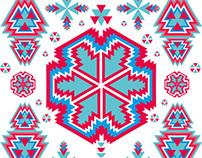 ethnic textile texture eps8 vector art