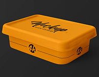 Free Plastic Container PSD MockUp in 4k