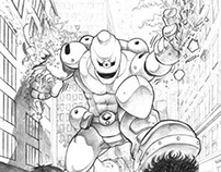 """Thalassaemia"" - Penciled pages for MediKidz"