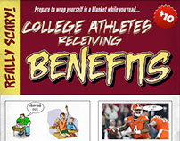 College Athletes Receiving Benefits Comic