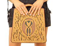 "Eco-friend bag ""Gufo"" made with recycled cork and paper"