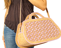 "Eco-friendly bag ""Borsone"" made with cork and paper"