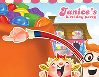 Candy Crush for Janice's Birthday Party