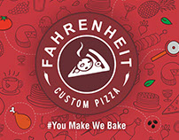 Farenheit Custom Pizza Menu Design