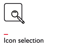 Icon selection