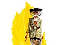 Alexander McQueen x Joe Tin Illustration