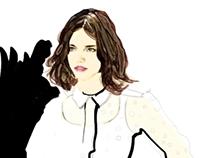 Chloé X Joe Tin Illustration