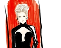 Jean Paul Gaultier X Joe Tin Illustration
