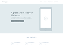 Landing Page(Wireframe)