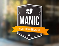 Manic Coffee & Gelato Branding