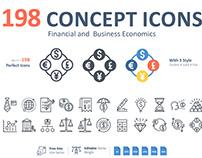 Set of Financial & Business Economics Sybols