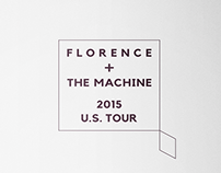 Florence + The Machine 2015 U.S.Tour - poster