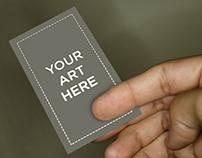 Vertical Business Card Mockup   FREE DOWNLOAD