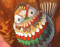 Bird concept (paper/metal)