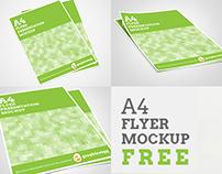 A4 Flyer Mockup PSD