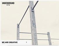 Website . Design - Underground Gym
