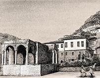 Berat Albania - Old City Drawing