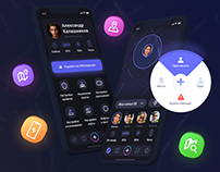 NAVIGRAM — GPS Locator x Messenger x App Design