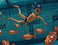 Faune sous-piscine