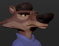 Wolf - 3D Model in Zbrush