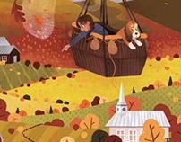Autumn balloon ride