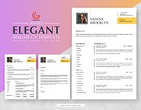 Free Simple Elegant CV-Resume With Cover Letter