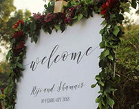 Wedding Signage and Styling