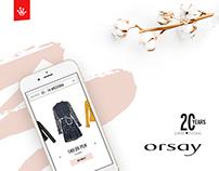 ORSAY 20 years - promo website + digital marketing