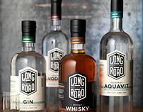 Long Road Distillers Package Design